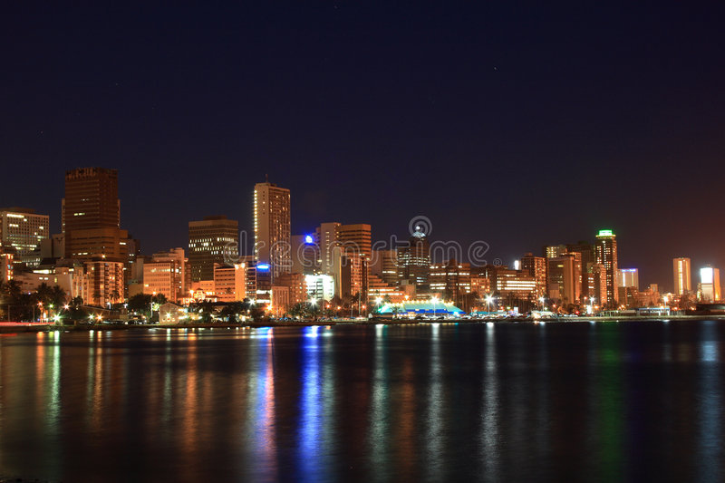 Night side of Durban stock photo