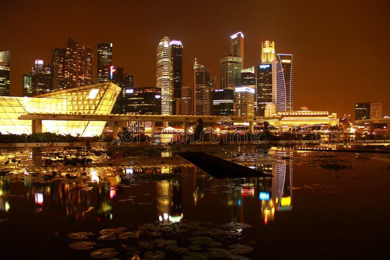 Night singapore stock photo