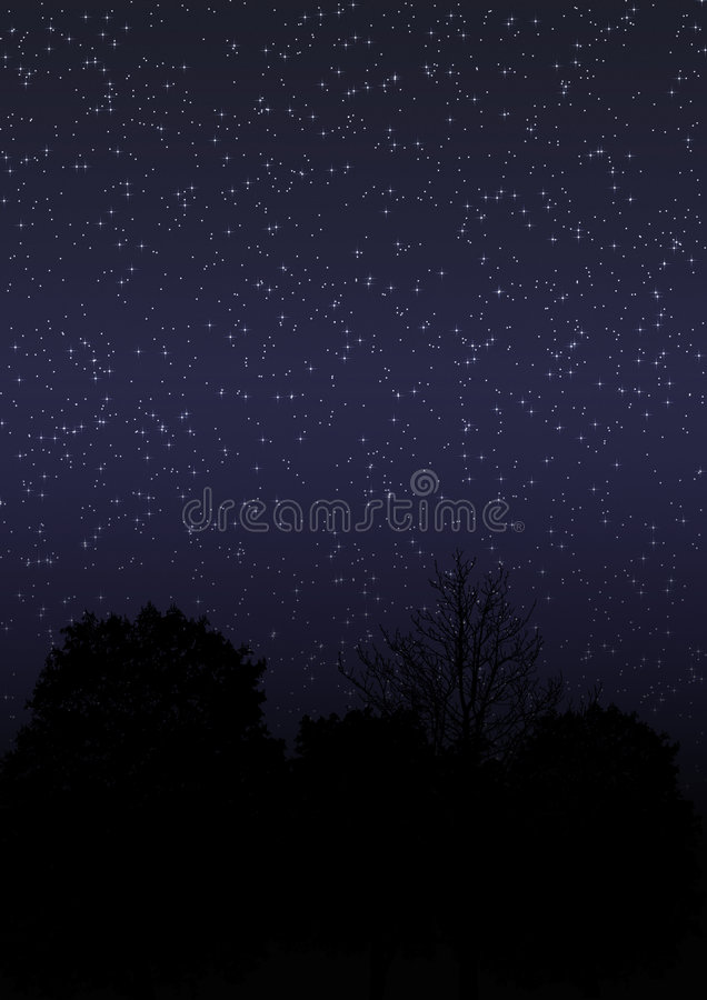 Download Night Sky 01 stock illustration. Image of glowing, galaxy - 3299483