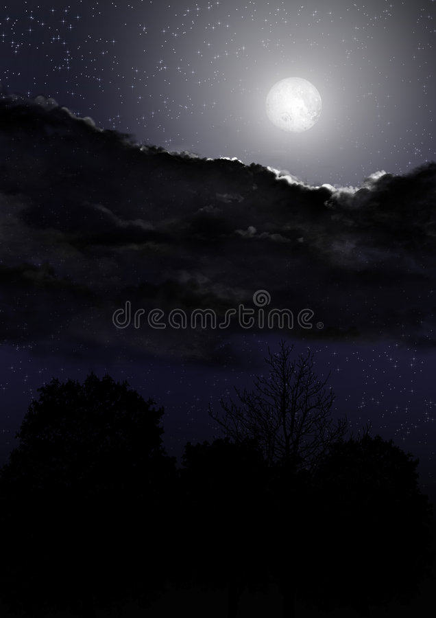 Download Night Sky 03 stock illustration. Image of field, moon - 3299487