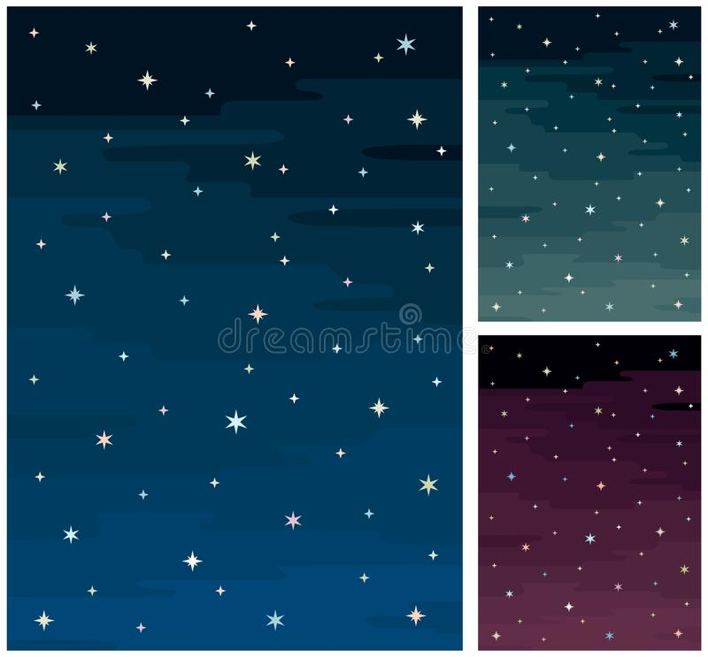 Download Night Sky stock vector. Image of space, cartoon, illustration - 15274957