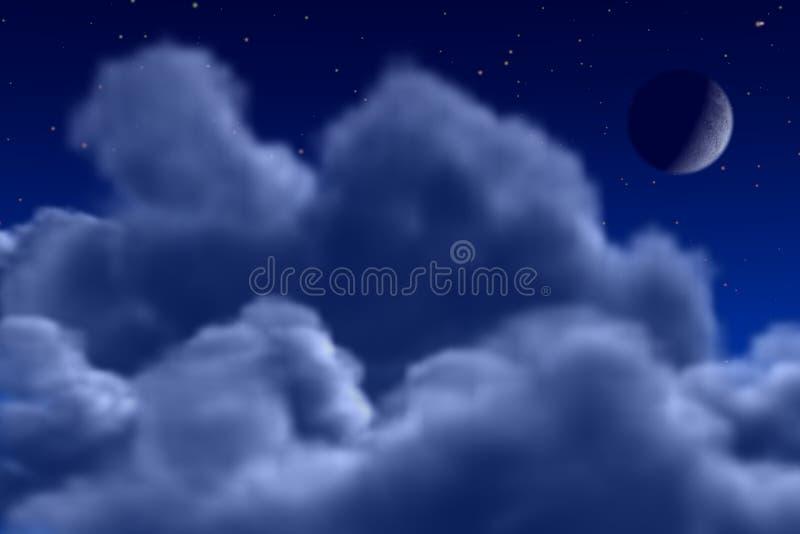 Night Sky. Computer Rendered Night Sky stock photo