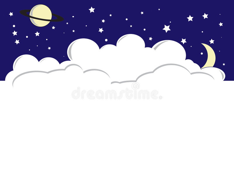 Download Night Sky stock vector. Image of evening, illustration - 4416566