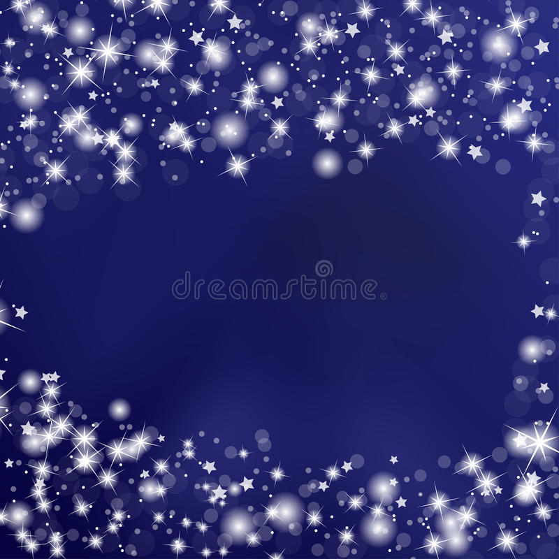 Night Sky Background with Stars vector illustration
