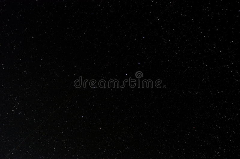 Night sky with Big Dipper. Sky background with stars stock photo