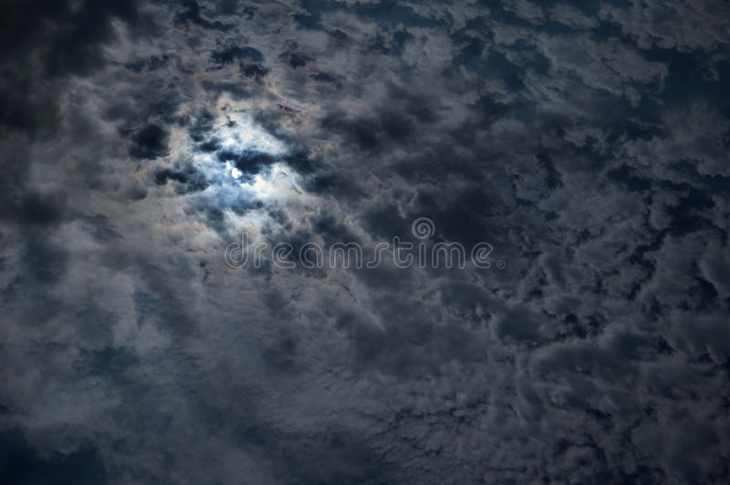 Night sky with a full moon stock photos