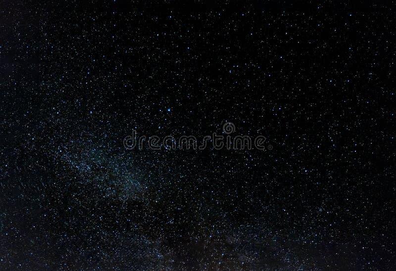 Night sky full of stars, southern hemisphere view. Background stock photo