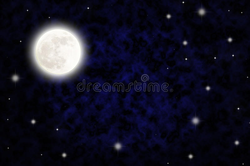 Night sky with fullmoon. And stars royalty free stock images