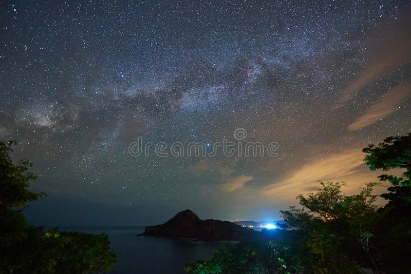 Night sky with galaxy space royalty free stock photos