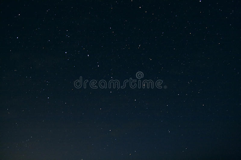 Night sky with Great Bear stock photo