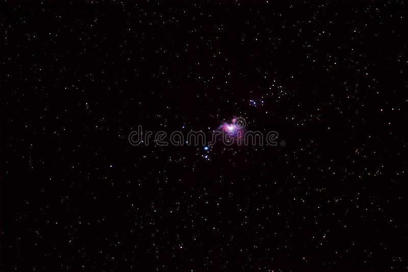 Night sky with great orion nebula M42 royalty free stock photo