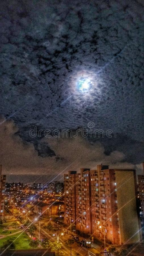 Night sky. I see the nights across the my window royalty free stock photos