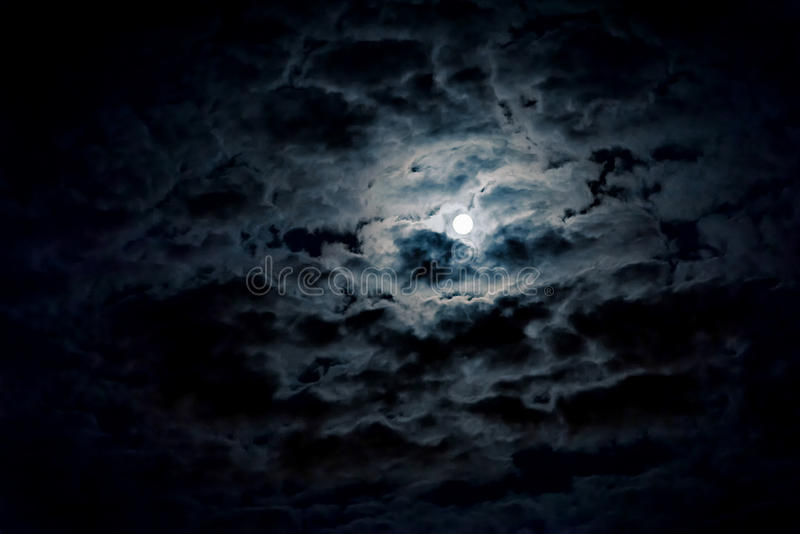 Night sky with moon stock photos