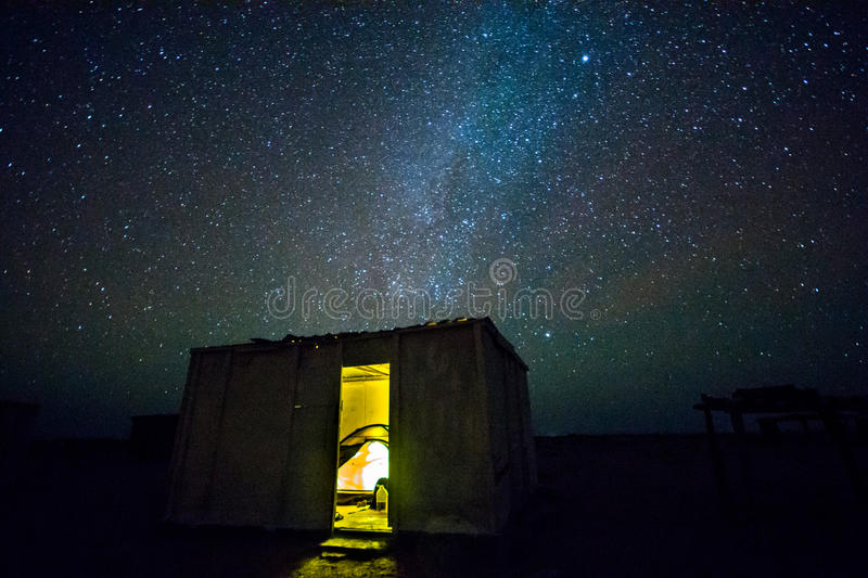 Night sky in Oman. Sleeping in a shed under clear night sky. Picture taken on Masirah island in Oman. More information on