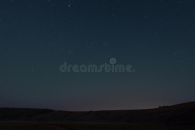 The night sky over the hill royalty free stock photography