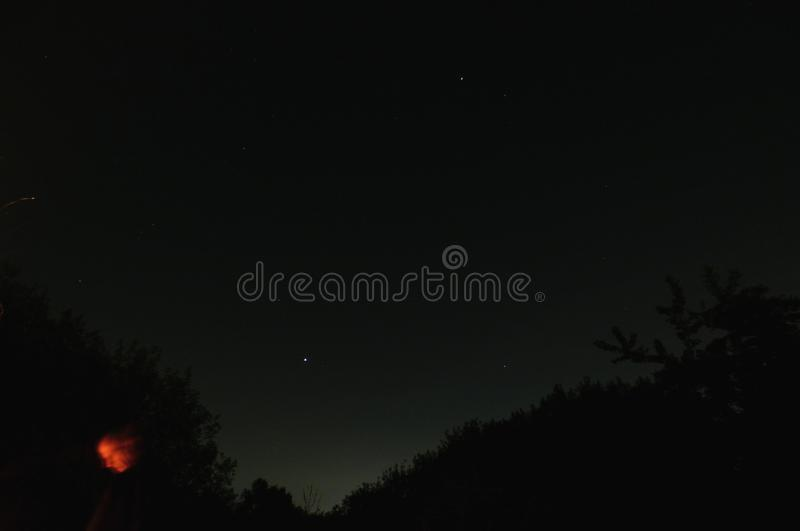 Night Sky Photo - Long Exposure stock photo
