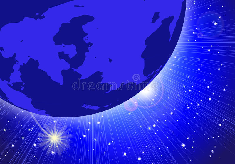 Night Sky Planet royalty free stock photography