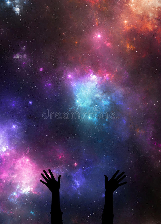 Night sky praise royalty free stock photo