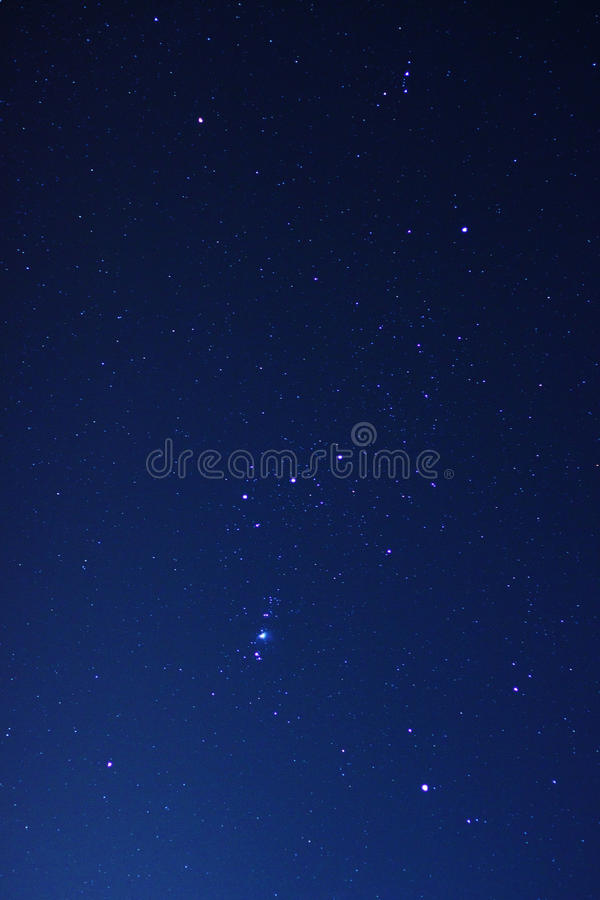 Night sky with real stars stock images