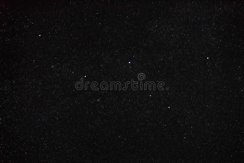 Night sky with star and the constellation Cassiopeia. North hem royalty free stock photo