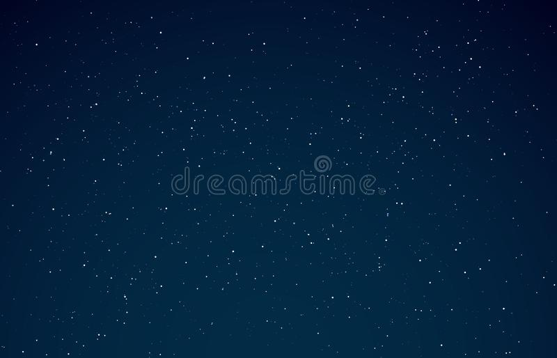 Night sky. Starry galaxy, night universe with shining stars. Space infinity with milky way starlight glow astronomical vector illustration