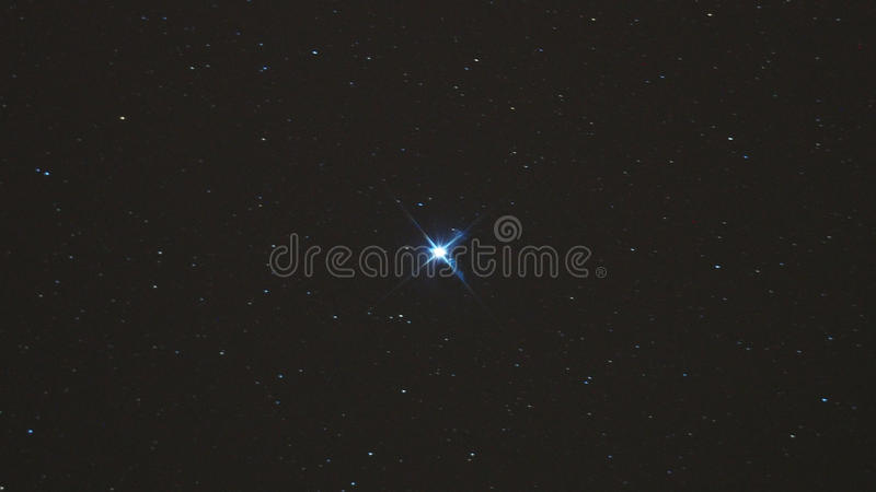 Night sky stars, Altair star in Aquila constellation. Altair star in Aquila constellation royalty free stock photography