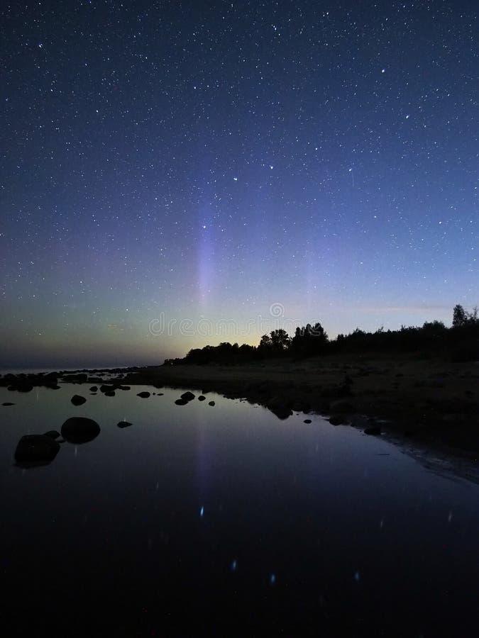 Night sky stars aurora polar lights big dipper constellation observing. Big dipper constellation stars royalty free stock photography
