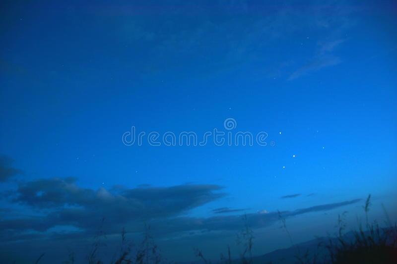 night sky and stars stock images