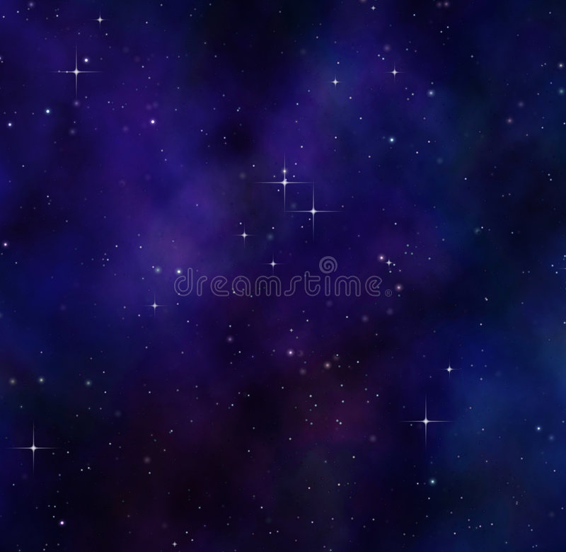 night sky or stars in deep space royalty free illustration