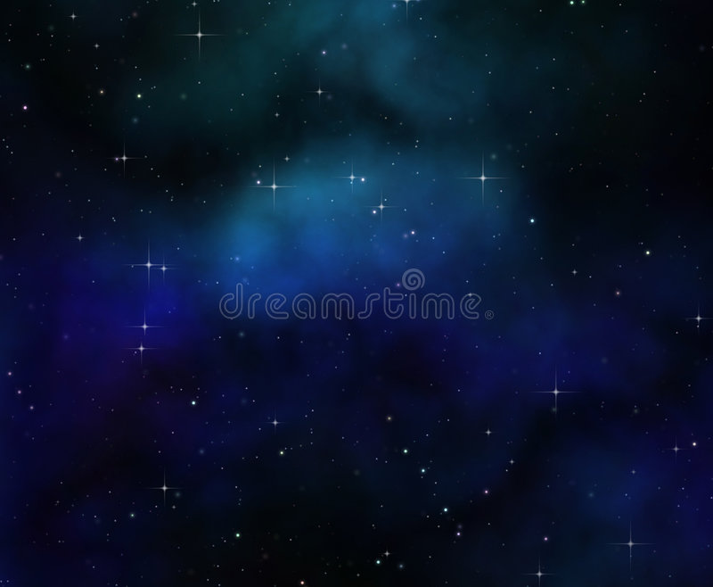 night sky or stars in deep space stock illustration