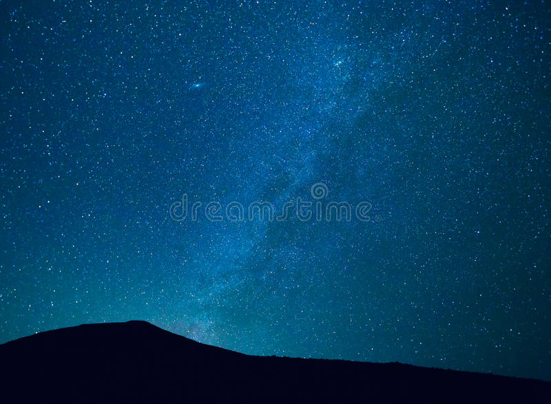 Night Sky with Stars and Galaxy royalty free stock photo