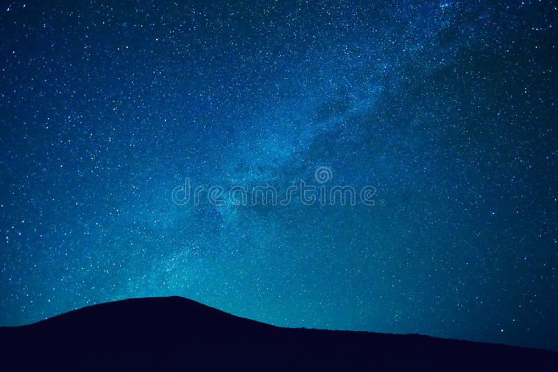 Night Sky with Stars and Galaxy stock image