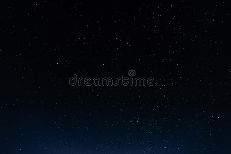 Night sky with stars and galaxy in outer space, universe background royalty free stock photography