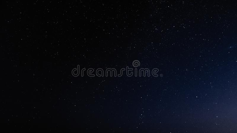 Night sky with stars and galaxy in outer space, universe background royalty free stock photos
