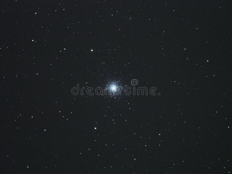 Universe stars in night sky cluster M13 stock photography