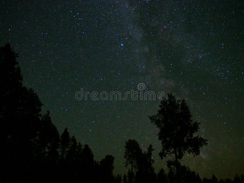 Universe and milky way stars in night sky royalty free stock photo