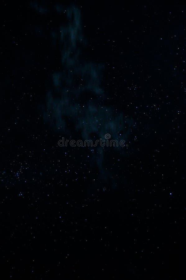 Night sky with stars and nebula stock image