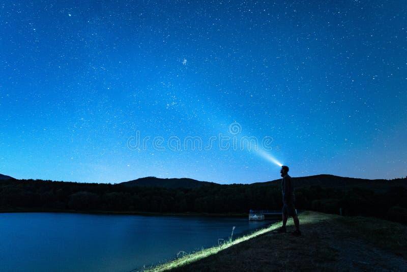 Night sky with stars. royalty free stock photo