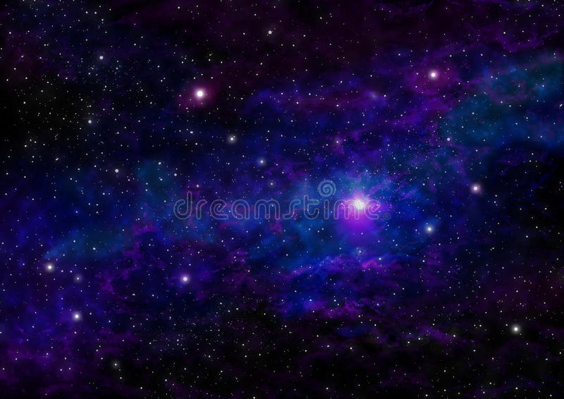 Blue nebula background