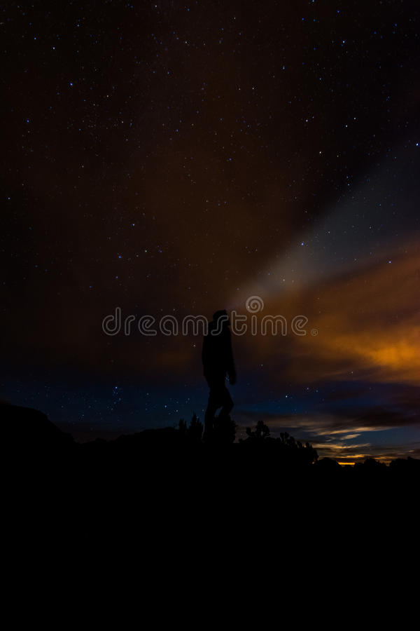 Night sky stars stock photography