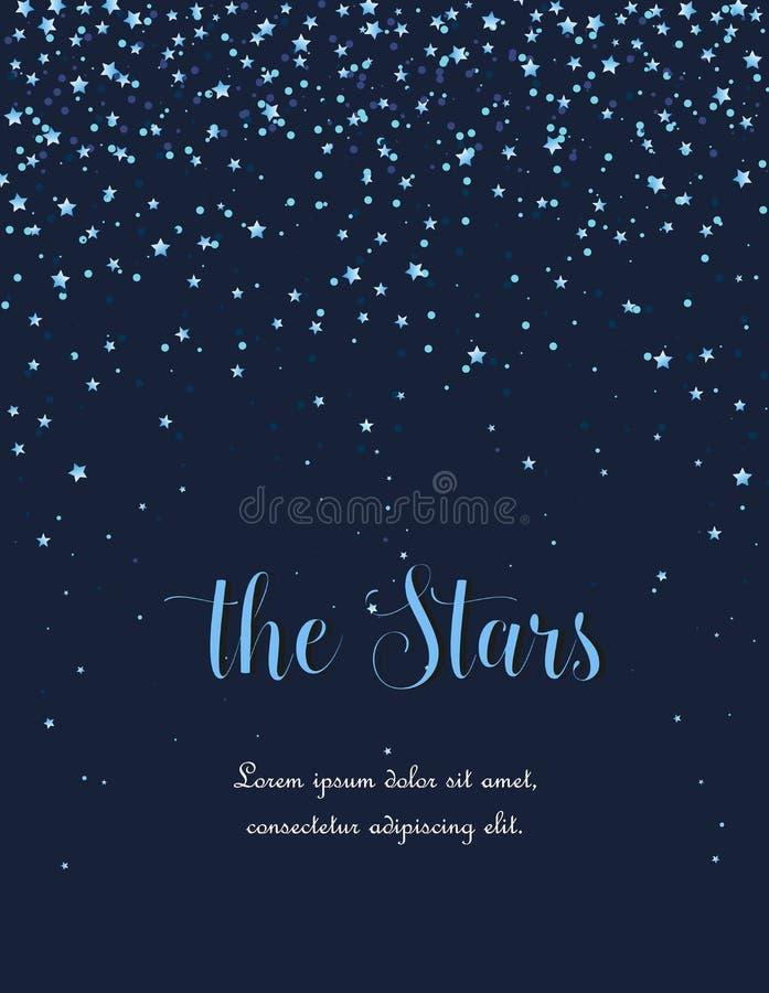 Night sky with stars stock illustration