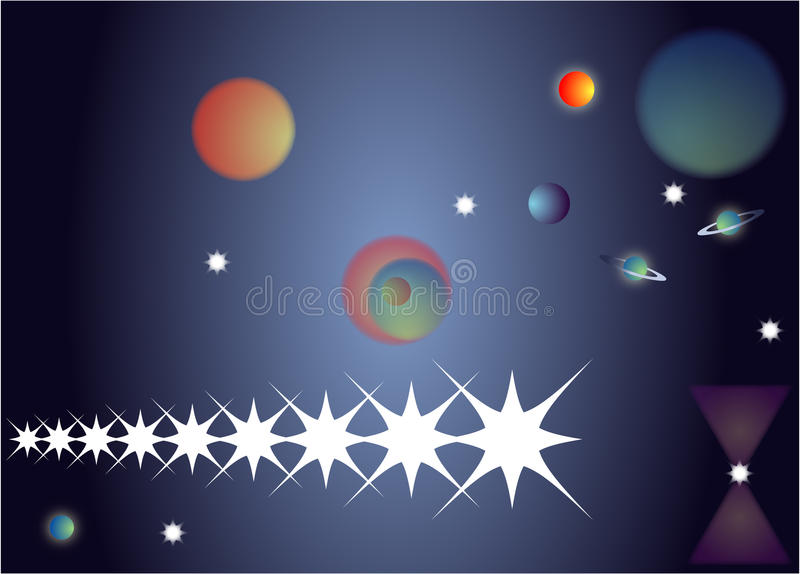 Download Night sky for universe stock illustration. Illustration of environment - 18208776