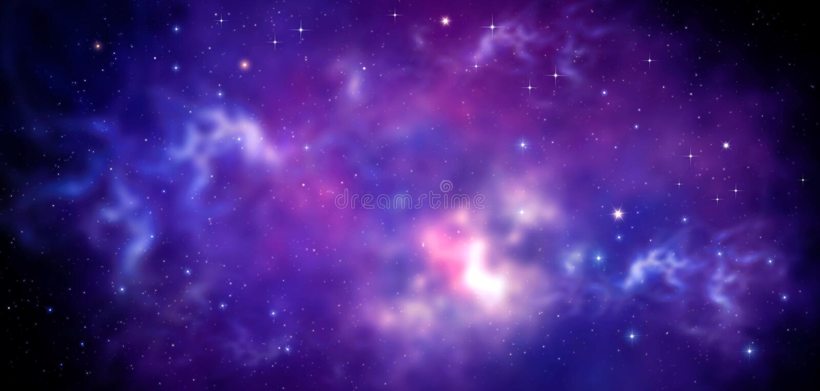 Night sky - Universe filled with stars, nebula and galaxy. Abstract background. Night sky - Universe filled with stars, nebula and galaxy stock illustration