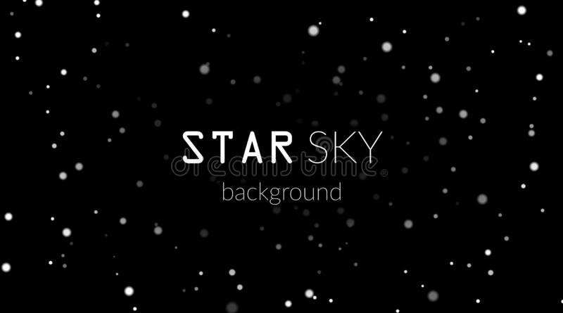 Night Sky With White Stars On Black Background Dark Astronomy Space Template Galaxy Starry Pattern For Wallpaper Stock Vector Illustration Of Outer Night 128784835