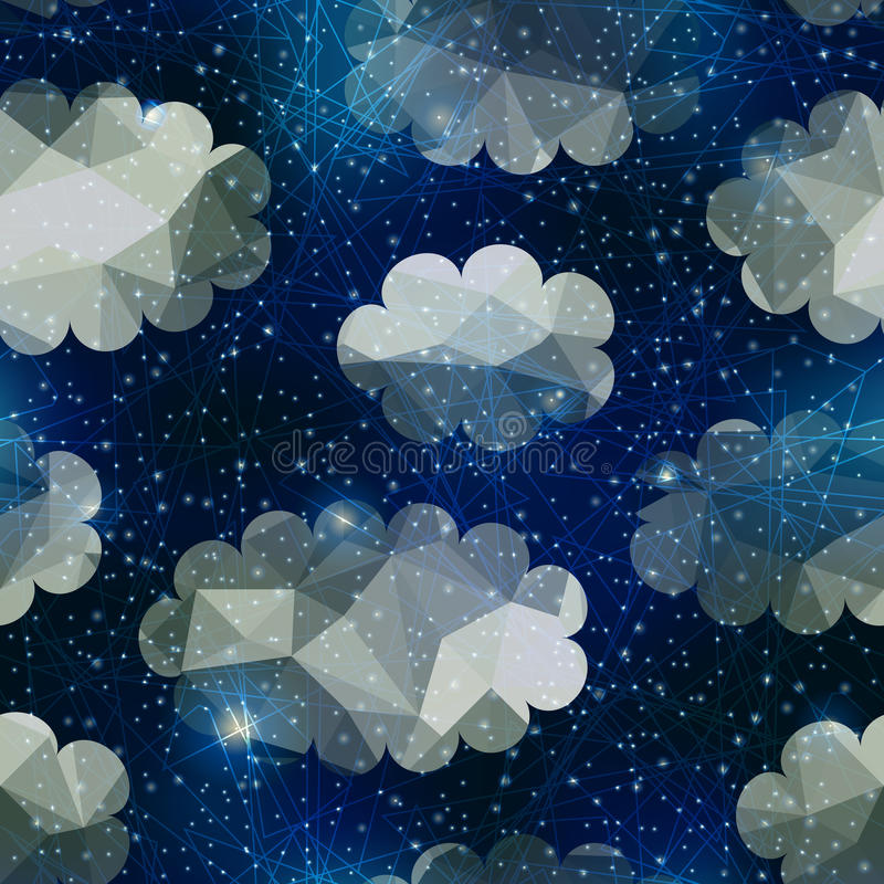 Free Night Sky With Clouds Royalty Free Stock Photo - 48580215