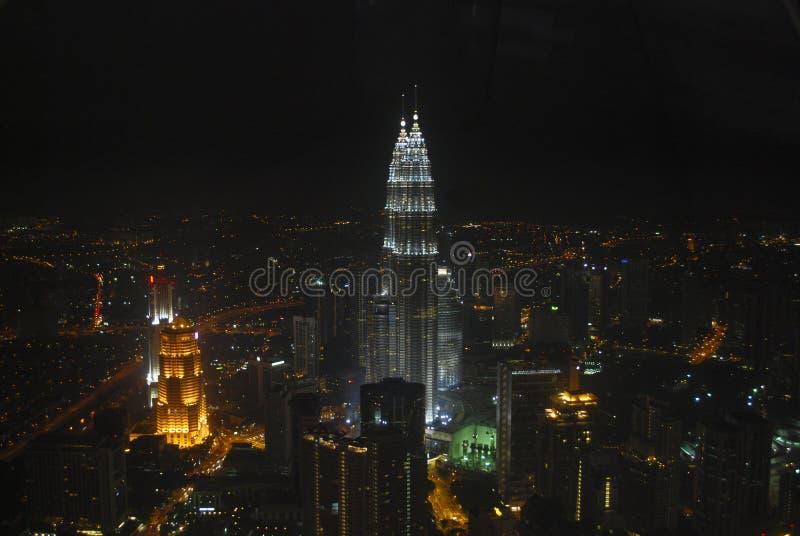 Night skyline royalty free stock photos