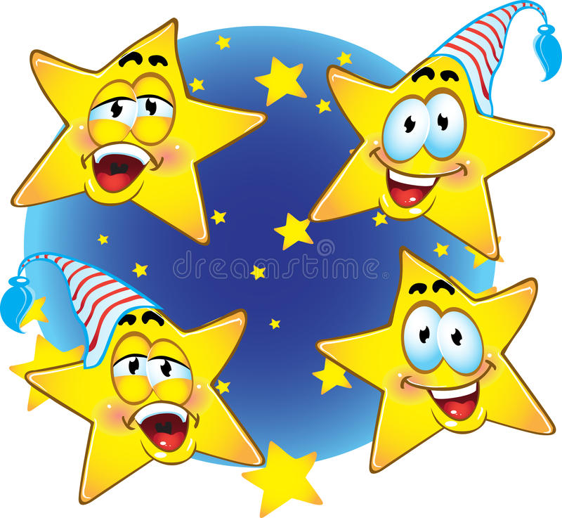 night smiling gold stars stock vector illustration of clipart rh dreamstime com night sky clipart black and white night sky clipart black and white