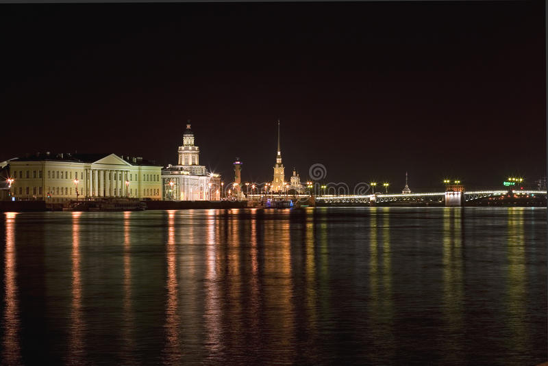 Download Night St Petersburg stock image. Image of lighted, landmark - 24606791