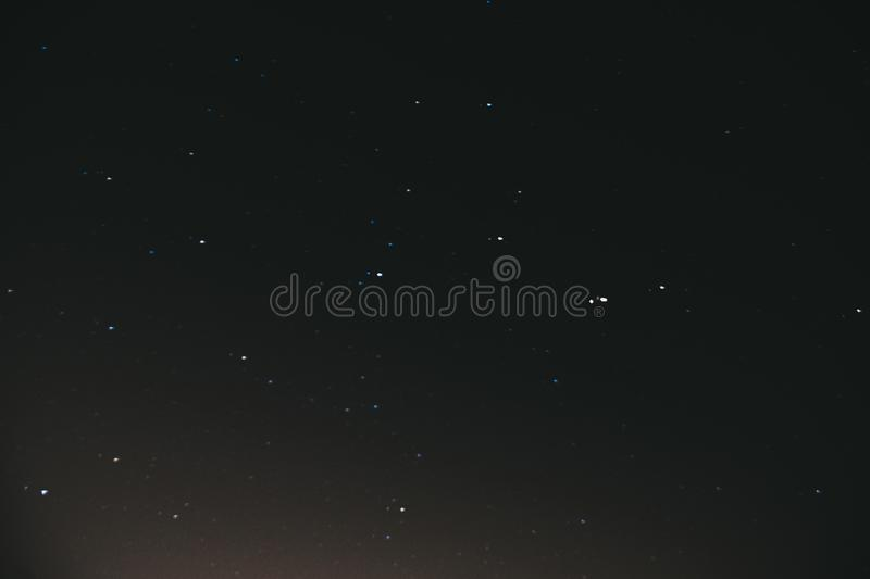 Night starry sky. Space background. A lot of stars on a dark night background royalty free stock photos