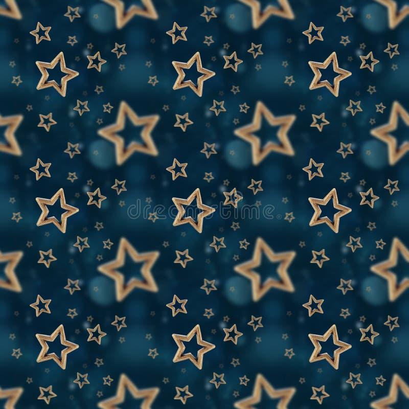 Night stars seamless pattern 2 stock photography